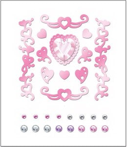 Marah Johnson Heiress Foil Stickers & Rhinestones
