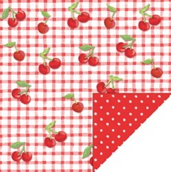 Renae's House Miss Elle Cherry Gingham Paper