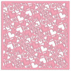 Holey Cardstock Pink Hearts