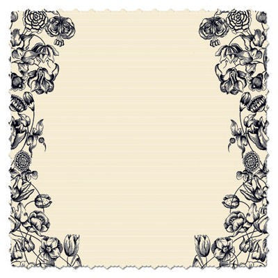 Antique Cream Floral Diecut Paper
