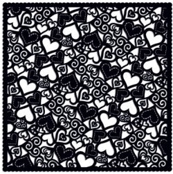 Holey Cardstock Black Hearts