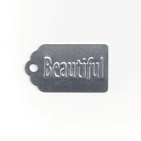 Beautiful Metal Tag