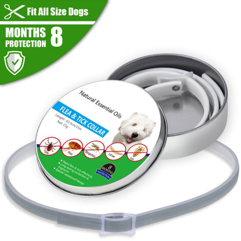 Outdoor Pet Collar TPE Insect Mosquito Flea Prevention Adjustable Outdoor Dog Neck Supplies