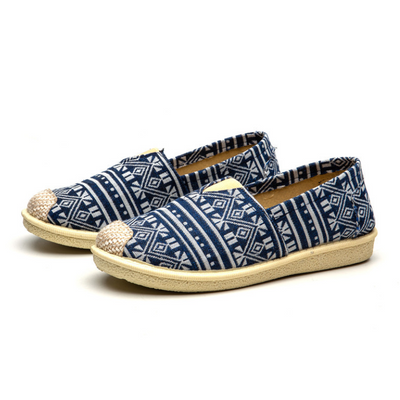 Pi Clue Printed Flat Heel Loafers