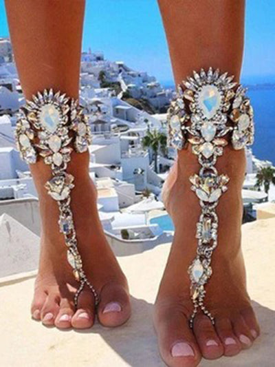 Alloy Gorgeous Diamond Holiday Anklet
