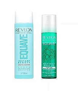 Revlon 250ml Equave Hydro Detangling Shampoo / 200ml Volumizing Detangling...