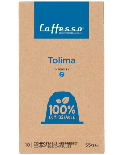 Café Tolima Intensidad Media 100% Compostable Caffesso compatible Nespresso®