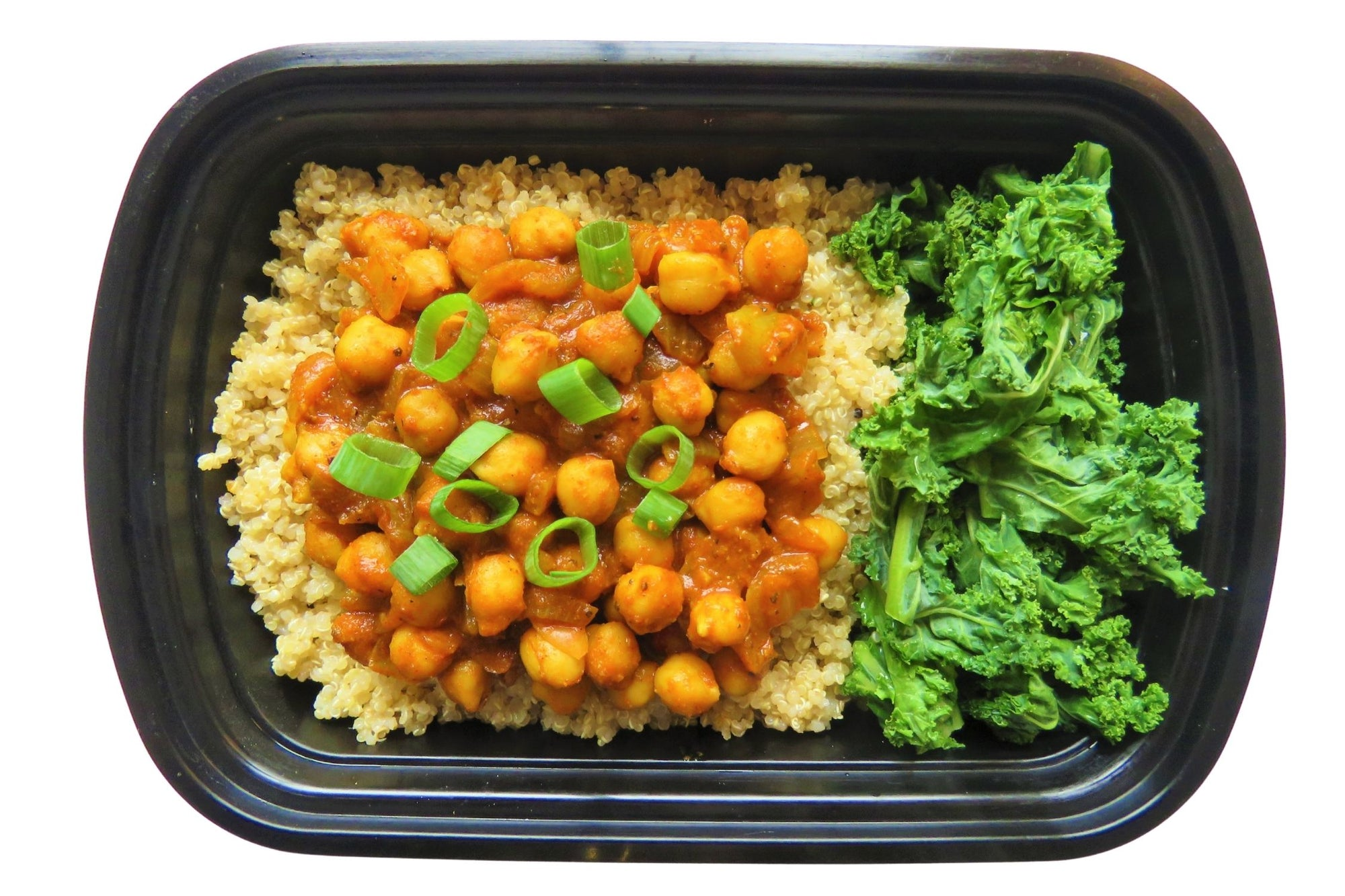 Chickpea Curry served with Quinoa