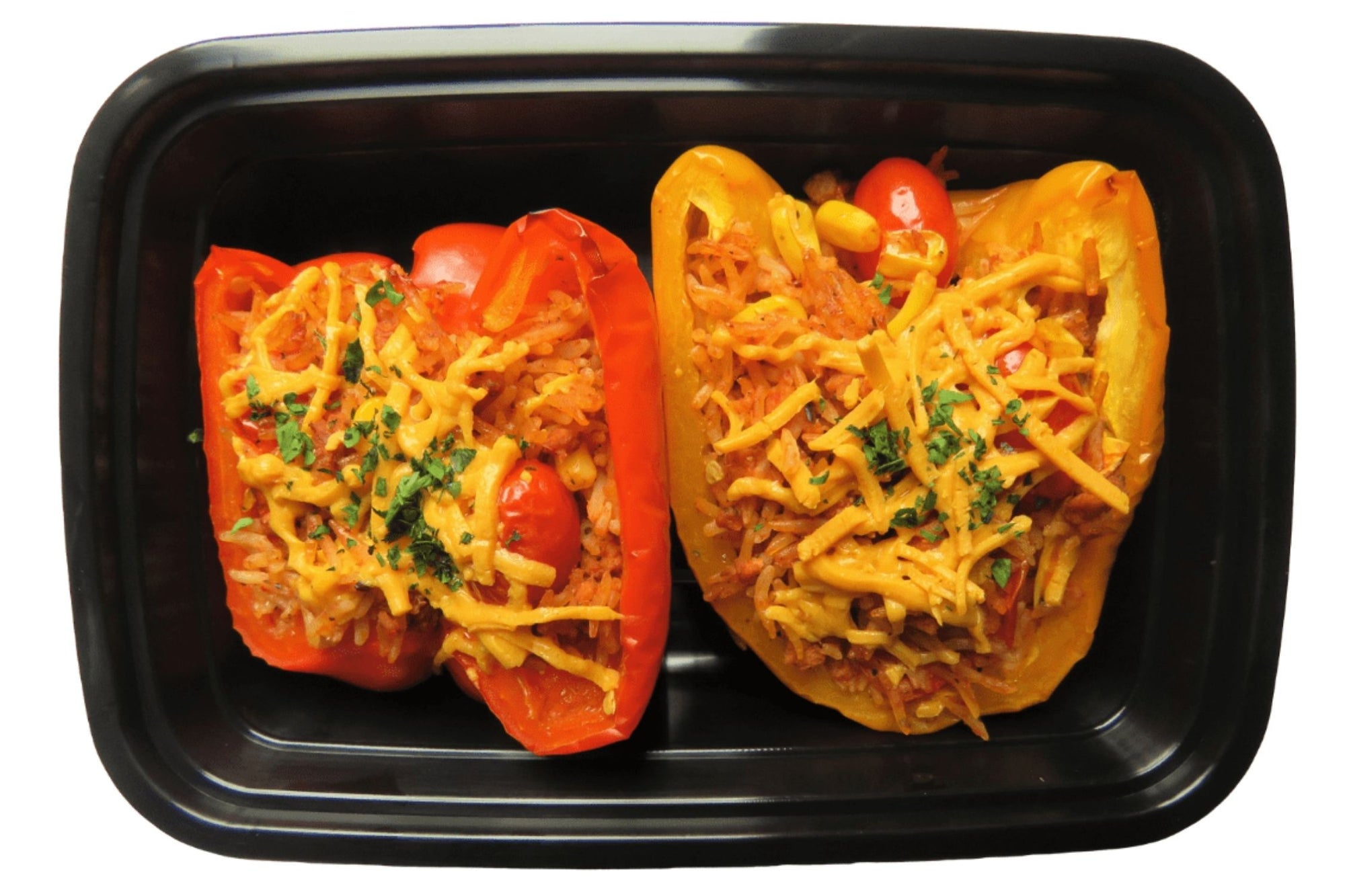 Rice & Tomato Stuffed Peppers