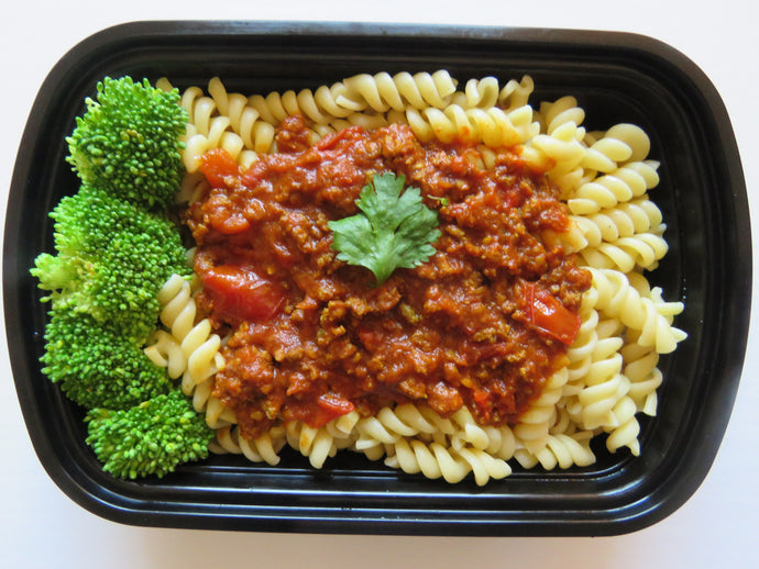 Beef Sauce pasta- GreenMeal Meal Preparation Service Toronto