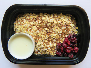 Vegan Cranberry Flax Seed Oatmeal - GreenMeal Inc.