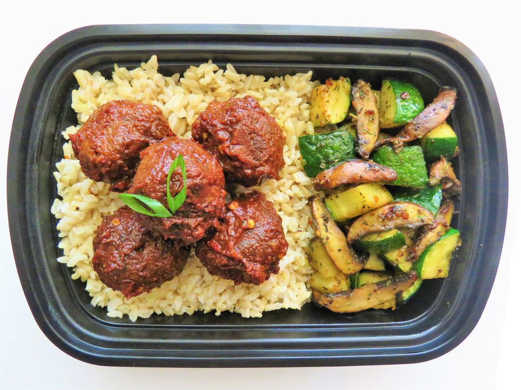 Turkey Meat Balls with Italian Mushroom & Zucchini - GreenMeal Inc.