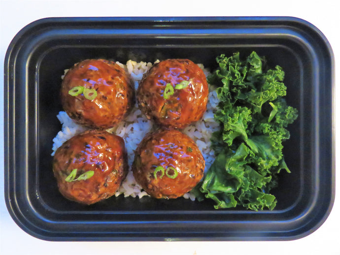 BBQ Black Bean Meat Balls - Healthy Meal Delivery Toronto