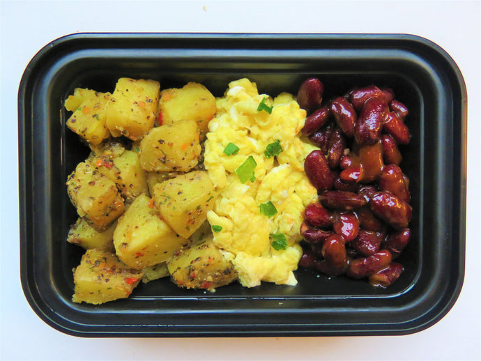 Scrambled egg and potato hash (VEG) - GreenMeal Inc.