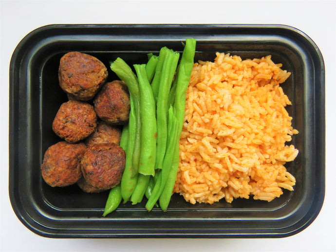 Mexican Rice & Mini Pork Meat Balls - GreenMeal Inc.