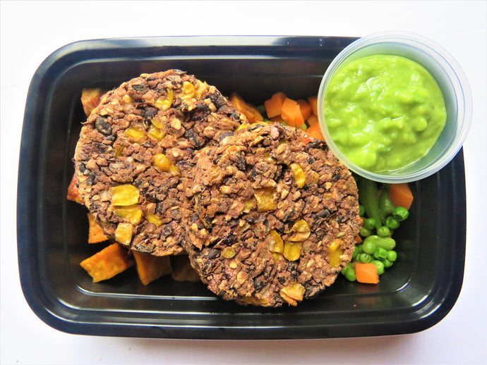 Mexican Black Bean Burger W/ Roasted Sweet Potato