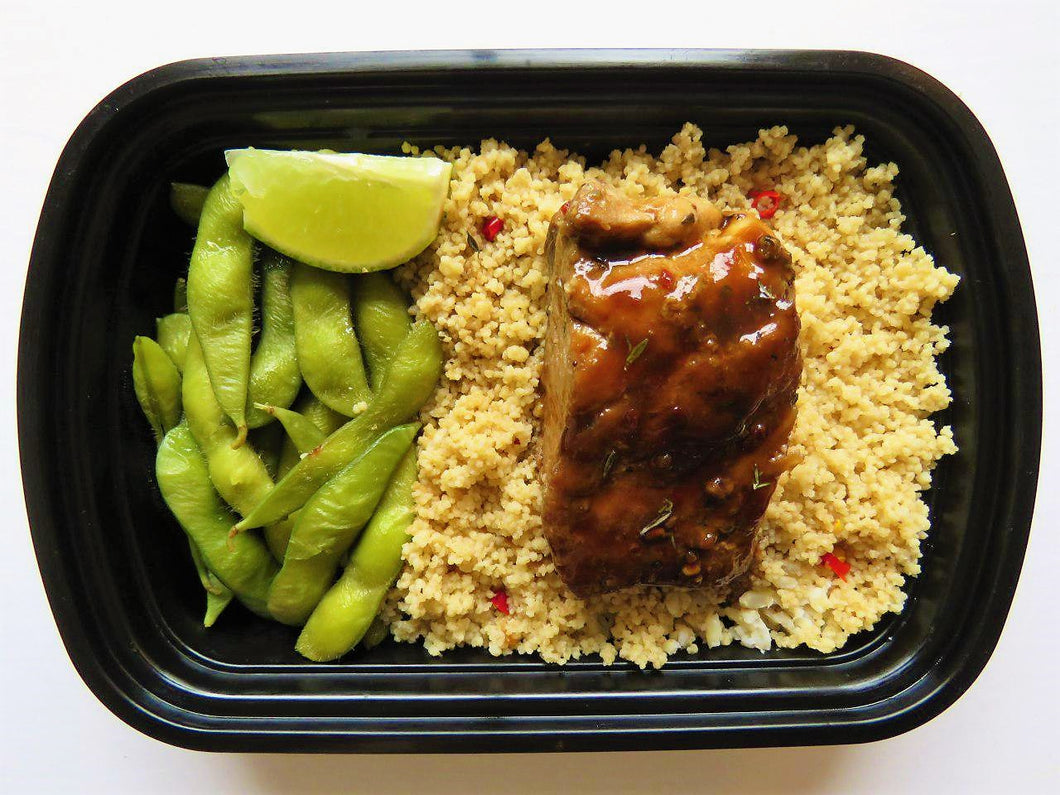 Teriyaki Salmon on Couscous - GreenMeal Inc.