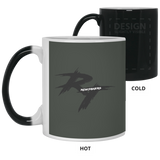 Rt Logo Black Color Changing Mug