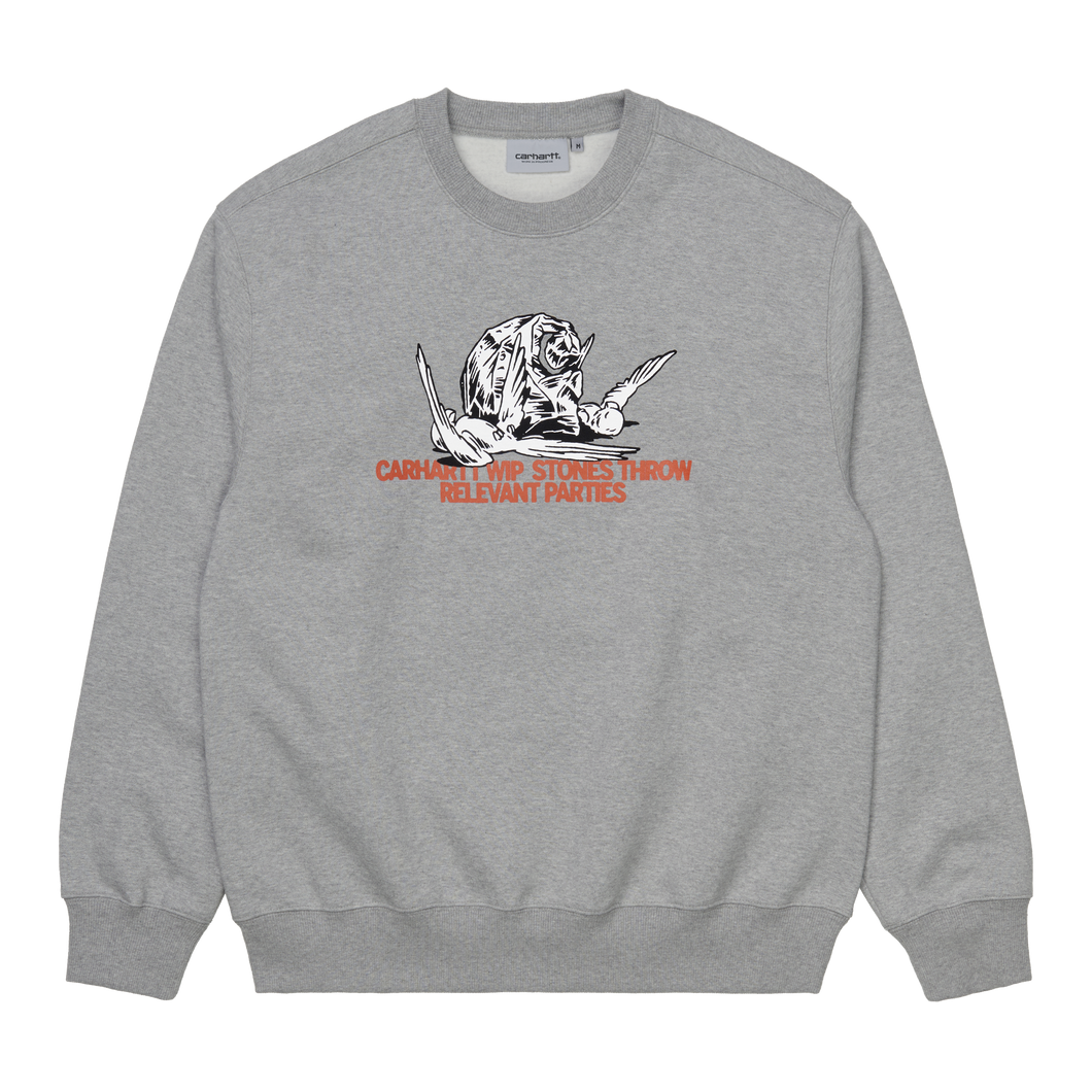 Carhartt WIP x Stones Throw Sweatshirt (Grey)