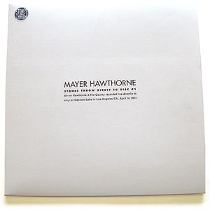 Mayer Hawthorne & The County Direct To Disc
