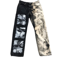 ABSTRACT PALM DENIM