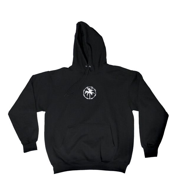 EMBROIDERED HOODIE BLACK