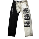 BLACK WHITE WATCHING JEANS