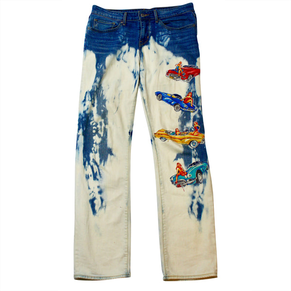 HAWAIIAN  DENIM ACID WASH