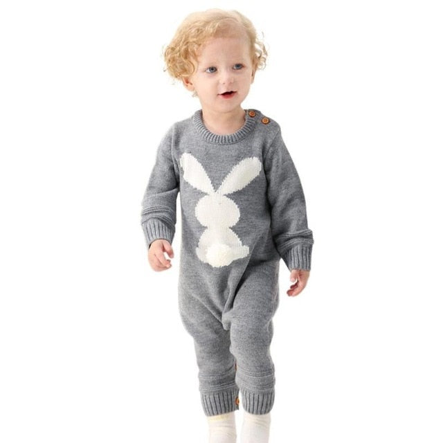 c46799a61 Newborn Baby Cute Rompers Winter Boys Girls Christmas Jumpsuits Long ...