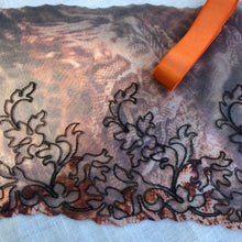 "Load image into Gallery viewer, Tulle Lace 103 - 7 1/2"" Brown Animal Print Embroidered Tulle"