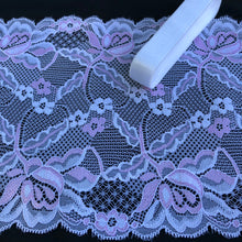 "Load image into Gallery viewer, Stretch Lace #251 - 6 3/4"" Bright White with Whisper Pink"