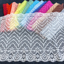 "Load image into Gallery viewer, Stretch Lace #231, Dyeable 9 1/4"" Zigzag lace"