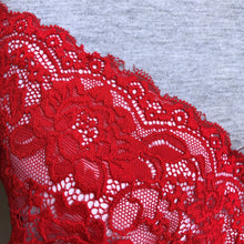 "Load image into Gallery viewer, Stretch Lace #218, 6"" Fire Engine Red"