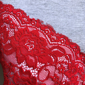 "Stretch Lace #218, 6"" Fire Engine Red"