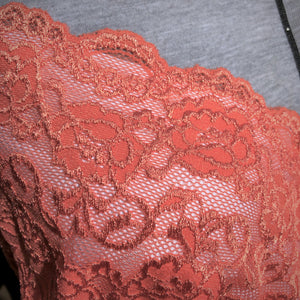 "Stretch Lace #205, 8"" Coral"