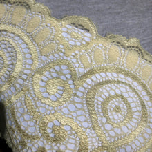 "Load image into Gallery viewer, Stretch Lace #209, 7 1/4"" Neutral Scroll lace"