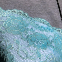 "Load image into Gallery viewer, Stretch Lace #206, 8"" Glacier Blue"