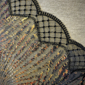 "Tulle Lace 108 - 8"" Embroidered Tiger Striped Lace"