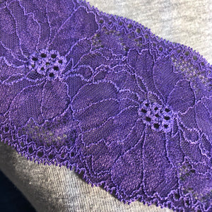 "Stretch Lace #236, 3"" Dye to Match lace edging"
