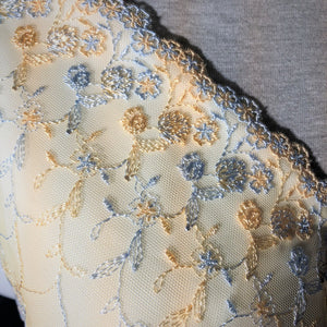 "Tulle Lace 109 - 6"" Topaz and Blue Gray Tulle Lace"