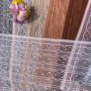 "Stretch Lace #257 - 8 3/4"" Diamond Dye to Match Lace"