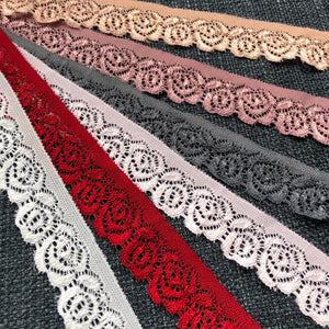 "Stretch Lace #206 - 1 1/8"" Dye to Match Lace"