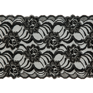 "Stretch Lace #147, 6 1/4"" Black"