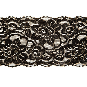 "Stretch Lace #150, 3 1/4"" Black"
