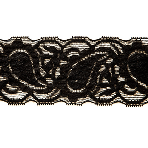 "Stretch Lace #151, 2 1/2"" Black"
