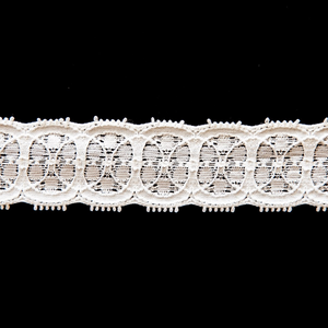 "1"" White and Colored Stretch Lace #162"