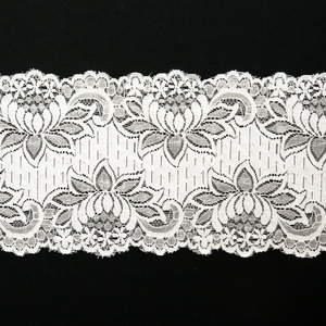"6"" White Stretch Lace #169"
