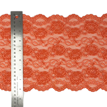"Load image into Gallery viewer, Stretch Lace #205, 8"" Coral"