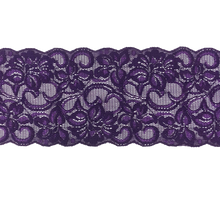 "Load image into Gallery viewer, 5"" Violet Stretch Lace # 212"