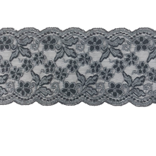 "Load image into Gallery viewer, 5 1/2"" Deep Platinum Grey Stretch Lace # 213"